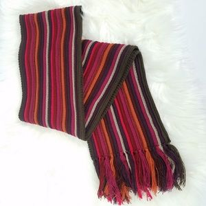 Coldwater Creek Mixed Stripe Fringe Scarf